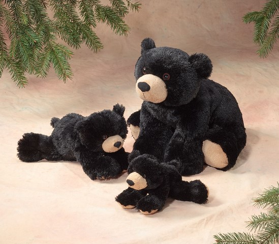 Stuffed Animal House - Floppy Black Bear fb01